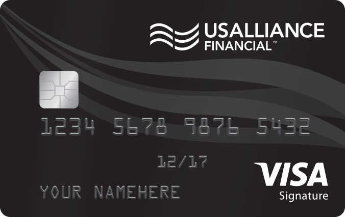 usalliance financial federal credit union visa signature credit card