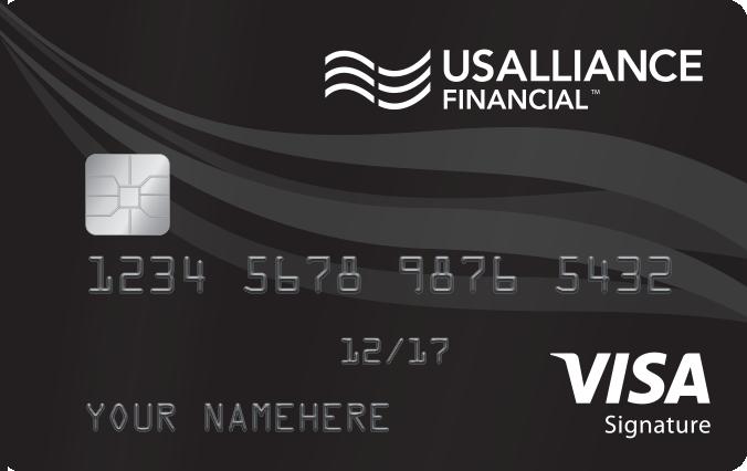 usalliance financial federal credit union visa signature credit card