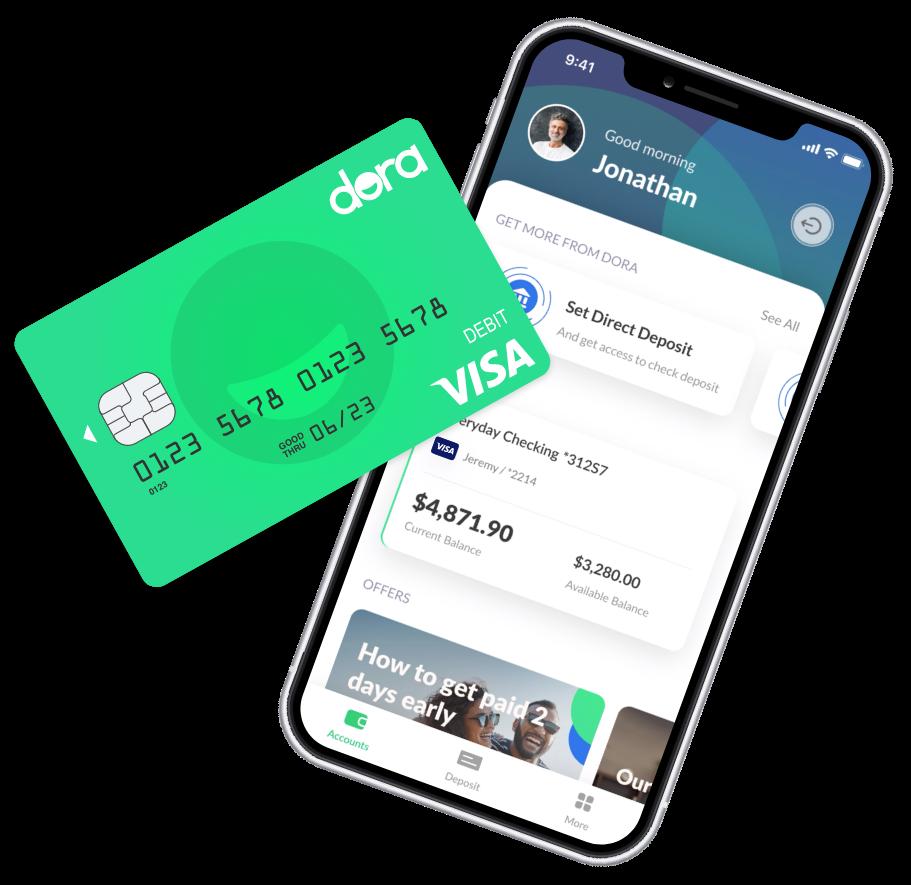 Dora app and debit card